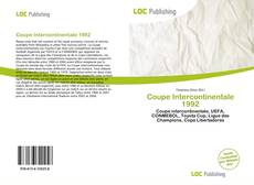 Coupe Intercontinentale 1992 kitap kapağı