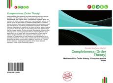 Bookcover of Completeness (Order Theory)