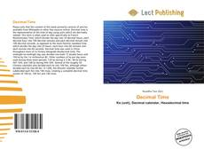 Bookcover of Decimal Time