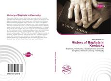 Couverture de History of Baptists in Kentucky