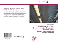 Hatchback, City car, Hyundai Motor Company, Hyundai Atos,的封面