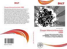Bookcover of Coupe Intercontinentale 1996