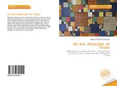 Bookcover of Ali bin Abdullah Al Thani