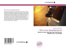 Bookcover of Elva (car manufacturer)