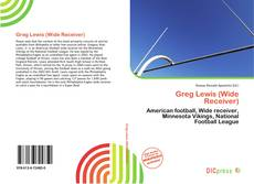 Capa do livro de Greg Lewis (Wide Receiver)