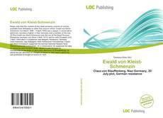 Capa do livro de Ewald von Kleist-Schmenzin