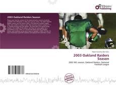 Bookcover of 2003 Oakland Raiders Season