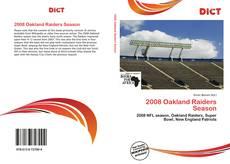 Couverture de 2008 Oakland Raiders Season