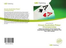 Crown Australian Poker Championship kitap kapağı