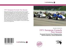 Capa do livro de 1971 European Formula Two Season