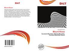 Copertina di Mount Rowe