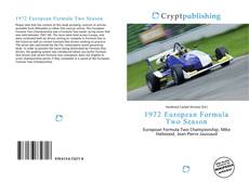 Capa do livro de 1972 European Formula Two Season