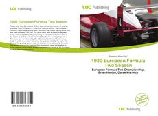 Capa do livro de 1980 European Formula Two Season