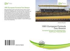 Capa do livro de 1981 European Formula Two Season