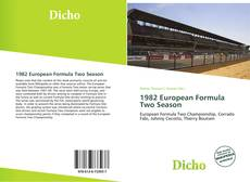 Capa do livro de 1982 European Formula Two Season
