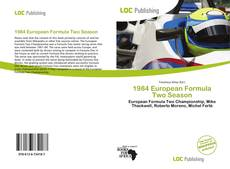 Capa do livro de 1984 European Formula Two Season