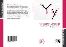 Eteocypriot Language kitap kapağı