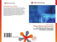 Couverture de Kaye Adams (presenter)