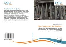 Bookcover of Fête Nationale du Québec