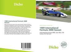 Capa do livro de 1989 International Formula 3000 Season