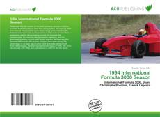 Capa do livro de 1994 International Formula 3000 Season