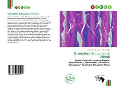 Обложка Ernestine Schumann-Heink