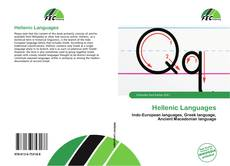 Bookcover of Hellenic Languages