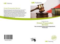 Bookcover of Crown Prosecution Service