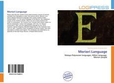 Borítókép a  Moriori Language - hoz