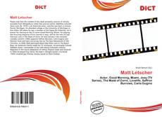 Bookcover of Matt Letscher