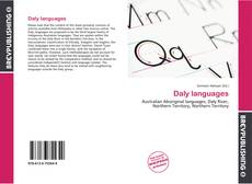 Bookcover of Daly languages