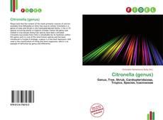 Bookcover of Citronella (genus)
