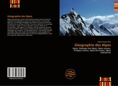 Géographie des Alpes kitap kapağı