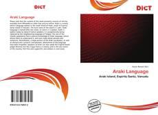 Capa do livro de Araki Language