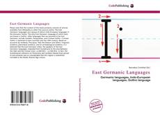Bookcover of East Germanic Languages