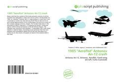 "Buchcover von 1985 ""Aeroflot"" Antonov An-12 crash"
