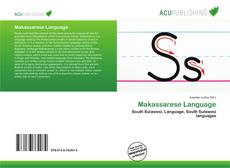 Makassarese Language kitap kapağı