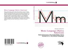 Portada del libro de Mono Language (Native American)