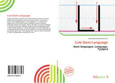 Bookcover of Lule Sami Language