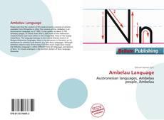 Couverture de Ambelau Language
