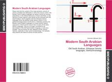 Bookcover of Modern South Arabian Languages
