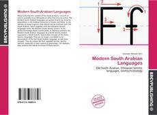 Modern South Arabian Languages kitap kapağı