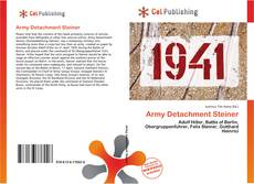 Bookcover of Army Detachment Steiner