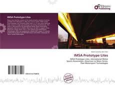 Capa do livro de IMSA Prototype Lites