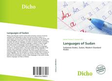 Buchcover von Languages of Sudan