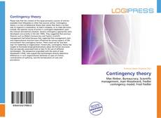 Bookcover of Contingency theory