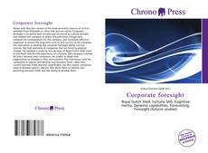 Capa do livro de Corporate foresight