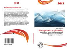 Bookcover of Management engineering