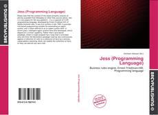 Jess (Programming Language)的封面