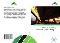Bookcover of 2001 in motoring